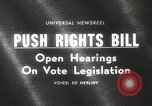 Image of Johnson urges passage of Voting Rights Act United States USA, 1965, second 3 stock footage video 65675063247