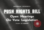 Image of Johnson urges passage of Voting Rights Act United States USA, 1965, second 4 stock footage video 65675063247