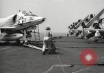 Image of United States aircraft carrier Pacific Ocean, 1965, second 32 stock footage video 65675063252