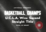 Image of basketball match Portland Oregon USA, 1965, second 5 stock footage video 65675063255
