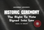 Image of Voting Rights Act of 1965 Washington DC USA, 1965, second 1 stock footage video 65675063257