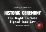 Image of Voting Rights Act of 1965 Washington DC USA, 1965, second 5 stock footage video 65675063257