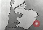 Image of dam on Zuider Zee Netherlands, 1940, second 19 stock footage video 65675063271