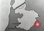 Image of dam on Zuider Zee Netherlands, 1940, second 20 stock footage video 65675063271