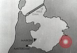 Image of dam on Zuider Zee Netherlands, 1940, second 21 stock footage video 65675063271
