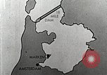 Image of dam on Zuider Zee Netherlands, 1940, second 27 stock footage video 65675063271