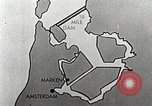 Image of dam on Zuider Zee Netherlands, 1940, second 51 stock footage video 65675063271