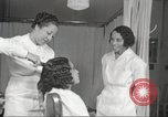 Image of Beauty parlor for African American women in Harlem New York City USA, 1940, second 58 stock footage video 65675063284