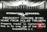 Image of Commander Richard Byrd Washington DC USA, 1927, second 10 stock footage video 65675063338