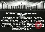 Image of Commander Richard Byrd Washington DC USA, 1927, second 15 stock footage video 65675063338