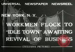 Image of American unemployed workmen New York City USA, 1932, second 3 stock footage video 65675063353