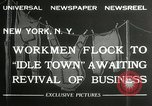 Image of American unemployed workmen New York City USA, 1932, second 7 stock footage video 65675063353