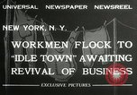 Image of American unemployed workmen New York City USA, 1932, second 8 stock footage video 65675063353