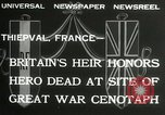 Image of ceremonies at Cenotaph Thiepval France, 1932, second 7 stock footage video 65675063354