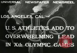 Image of 1932 Olympic games Los Angeles California USA, 1932, second 2 stock footage video 65675063355