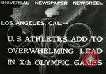 Image of 1932 Olympic games Los Angeles California USA, 1932, second 4 stock footage video 65675063355