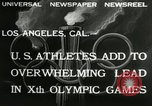 Image of 1932 Olympic games Los Angeles California USA, 1932, second 5 stock footage video 65675063355