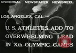 Image of 1932 Olympic games Los Angeles California USA, 1932, second 6 stock footage video 65675063355