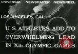 Image of 1932 Olympic games Los Angeles California USA, 1932, second 7 stock footage video 65675063355