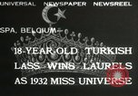 Image of Miss Universe contest Spa Belgium, 1932, second 1 stock footage video 65675063357