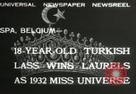 Image of Miss Universe contest Spa Belgium, 1932, second 6 stock footage video 65675063357