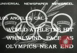 Image of 1932 Summer Olympic game highlights Los Angeles California USA, 1932, second 3 stock footage video 65675063358