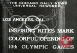 Image of Olympic games Los Angeles California USA, 1932, second 1 stock footage video 65675063359