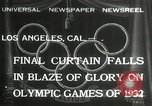 Image of Olympic games Los Angeles California USA, 1932, second 1 stock footage video 65675063362