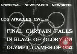 Image of Olympic games Los Angeles California USA, 1932, second 2 stock footage video 65675063362
