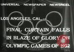Image of Olympic games Los Angeles California USA, 1932, second 3 stock footage video 65675063362