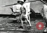 Image of Harvard 8 man crew participating in regatta on Thames River at New Lon New London Connecticut USA, 1900, second 15 stock footage video 65675063383