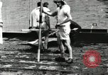 Image of Harvard 8 man crew participating in regatta on Thames River at New Lon New London Connecticut USA, 1900, second 17 stock footage video 65675063383