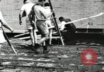 Image of Harvard 8 man crew participating in regatta on Thames River at New Lon New London Connecticut USA, 1900, second 21 stock footage video 65675063383