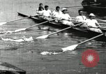 Image of Harvard 8 man crew participating in regatta on Thames River at New Lon New London Connecticut USA, 1900, second 30 stock footage video 65675063383