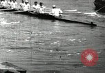 Image of Harvard 8 man crew participating in regatta on Thames River at New Lon New London Connecticut USA, 1900, second 33 stock footage video 65675063383