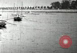 Image of Harvard 8 man crew participating in regatta on Thames River at New Lon New London Connecticut USA, 1900, second 39 stock footage video 65675063383