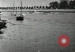 Image of Harvard 8 man crew participating in regatta on Thames River at New Lon New London Connecticut USA, 1900, second 40 stock footage video 65675063383