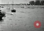 Image of Harvard 8 man crew participating in regatta on Thames River at New Lon New London Connecticut USA, 1900, second 41 stock footage video 65675063383
