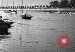 Image of Harvard 8 man crew participating in regatta on Thames River at New Lon New London Connecticut USA, 1900, second 43 stock footage video 65675063383