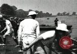 Image of Harvard 8 man crew participating in regatta on Thames River at New Lon New London Connecticut USA, 1900, second 52 stock footage video 65675063383