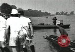 Image of Harvard 8 man crew participating in regatta on Thames River at New Lon New London Connecticut USA, 1900, second 53 stock footage video 65675063383