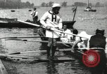 Image of Harvard 8 man crew participating in regatta on Thames River at New Lon New London Connecticut USA, 1900, second 54 stock footage video 65675063383