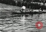 Image of Scenes from an annual Harvard and Yale rowing race on the Thames River New London Connecticut USA, 1900, second 2 stock footage video 65675063384