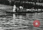 Image of Scenes from an annual Harvard and Yale rowing race on the Thames River New London Connecticut USA, 1900, second 3 stock footage video 65675063384