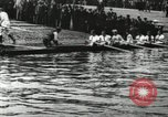 Image of Scenes from an annual Harvard and Yale rowing race on the Thames River New London Connecticut USA, 1900, second 6 stock footage video 65675063384
