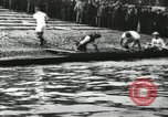 Image of Scenes from an annual Harvard and Yale rowing race on the Thames River New London Connecticut USA, 1900, second 10 stock footage video 65675063384