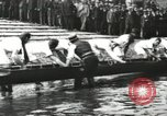 Image of Scenes from an annual Harvard and Yale rowing race on the Thames River New London Connecticut USA, 1900, second 12 stock footage video 65675063384