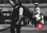 Image of Scenes from an annual Harvard and Yale rowing race on the Thames River New London Connecticut USA, 1900, second 21 stock footage video 65675063384
