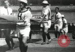 Image of Scenes from an annual Harvard and Yale rowing race on the Thames River New London Connecticut USA, 1900, second 23 stock footage video 65675063384