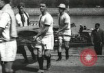 Image of Scenes from an annual Harvard and Yale rowing race on the Thames River New London Connecticut USA, 1900, second 25 stock footage video 65675063384
